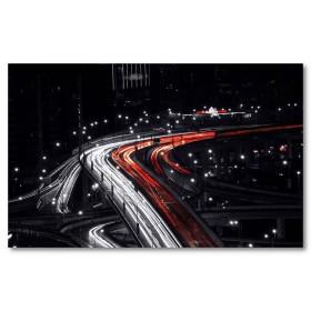 Αφίσα (δρόμος, γέφυρα, νύχτα, κυκλοφορία)